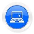canvas print picture - computer blue glossy web icon