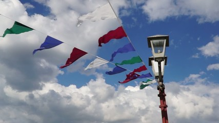 Pennants flutter on the wind