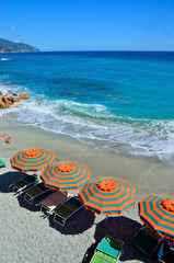 the beach of Monterosso, Cinque Terre, Italy