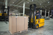 Forklift operator working at warehouse - 68544494