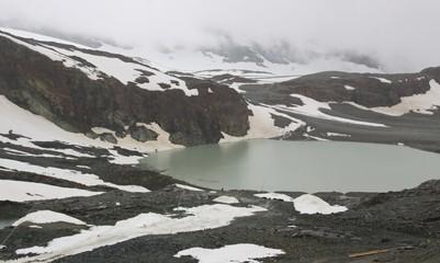 View of tourist trail near the Matterhorn