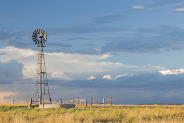 windmill in Colorado prairie