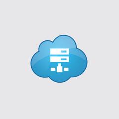 Blue cloud net drive icon.