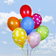 canvas print picture Colorful balloons on blue sky
