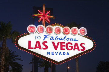Las Vegas Sign Night