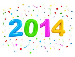 2014 New Years Celebration Balloons