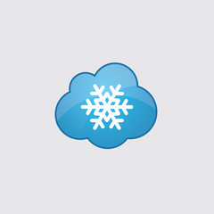 Blue snowflake icon.