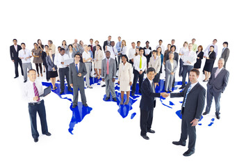 Ethnicity Group of Business People Standing