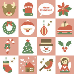 Seamless pattern of Xmas elements