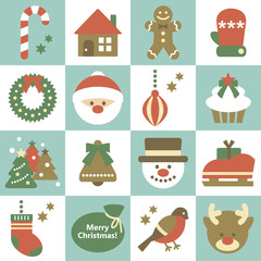 Seamless pattern of christmas elements