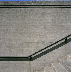 Concrete steps and iron railings