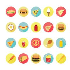 Fast food icons set. Illustration eps10