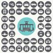 Public transportation icons set. Illustration eps10