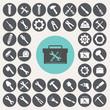 Tools icons set. Illustration eps10