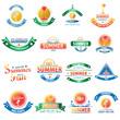 Summer sale vintage badges set. Illustration eps10