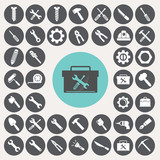 Tools icons set. Illustration eps10 poster