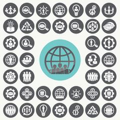 Organization icons set. Illustration eps10