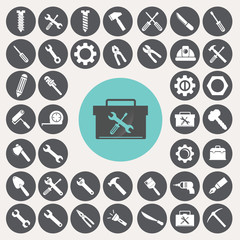 Tools icons set. Illustration eps10