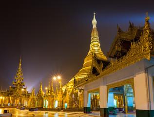 Shwedagon pagoda at night Yangon,Myanmar