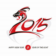 Chinese new year card with goat