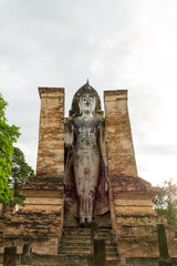 Beautiful Buddha in the Sukhothai, Thailand, World Heritage.