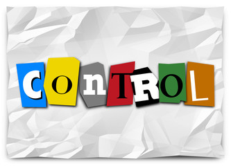 Control Word Cut Out Letters Ransom Note Total Domination