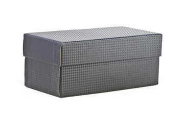 Box with kevlar texture on white background