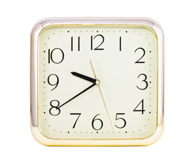 luxury clock on white background