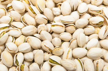Dried Pistachio Nuts use as food background