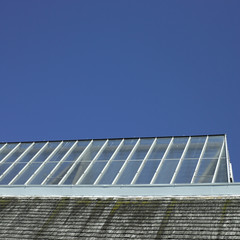 Building with glass roof
