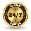 Runder rundum Service Siegel in gold