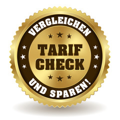 Runder Tarif Check Siegel in gold