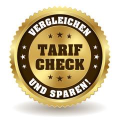 Runder Tarif Check Siegel in gold