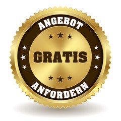 Runder gratis Anfordern Siegel in gold