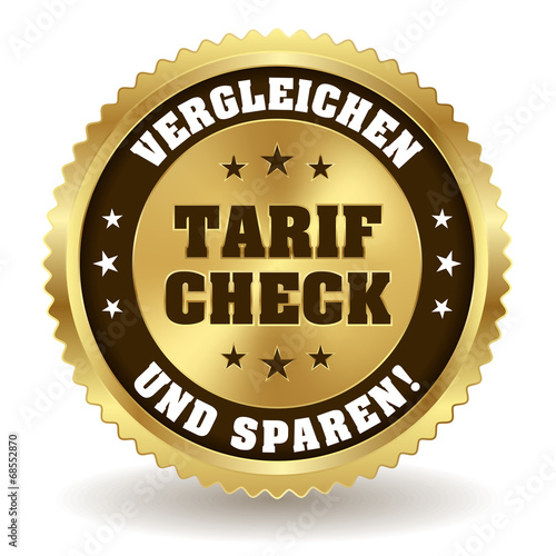 Runder Tarif Check Siegel in gold - 68552870