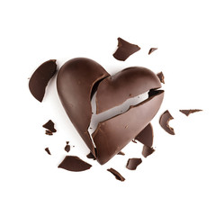 Chocolate broken heart