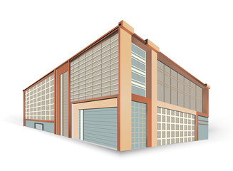 Building style scene on a white background