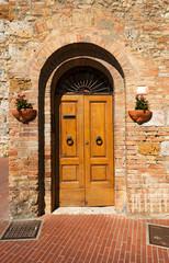 Wooden Door - San Gimignano Tuscany Italy