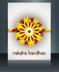Beautiful rakhi brochure vector template Indian festival Raksha
