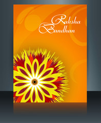 Beautiful brochure template Raksha Bandhan vector design