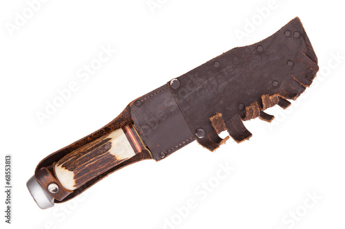 poster of Very old bowie knife isolated