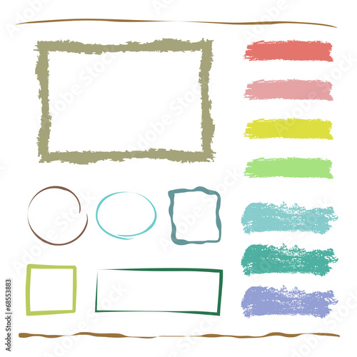 水彩風 装飾セット / vector eps