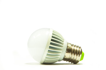 a light bulb on white background