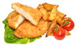 Breaded Chicken Breast Fillets And Potato Wedges
