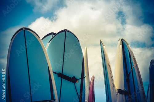 Retro Styled Vintage Surf Boards In Hawaii - 68554857