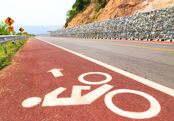 Bicycle Lane along The Beach Road