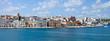 Leinwandbild Motiv Brindisi, panoramic view from the sea - Puglia - Italy