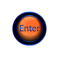 glossy vector enter button