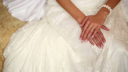 Hands of a Bride on Lap