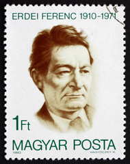 Postage stamp Hungary 1980 Ferenc Erdei, Politician